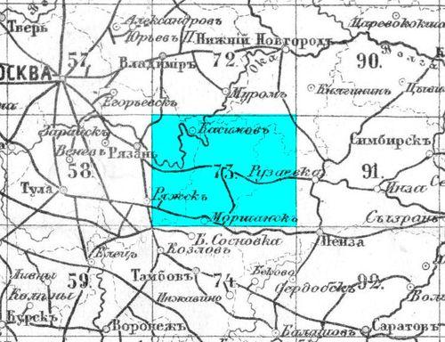Карты стрельбицкого с привязкой - 817
